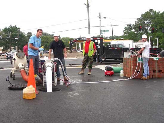 sewer pipe lining repair cipp