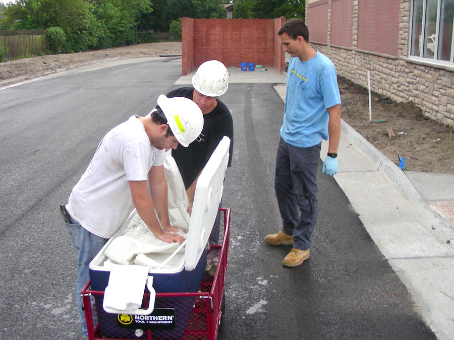 preparing the liner for transport