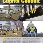 CIPP Perma Liner system used to reline leaking conduit in the capitol building in Washington Dc.