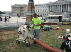 Our Pipe Repair Technicians at the Capitol Building in Washington DC