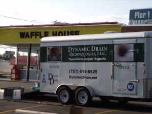 Mobile Trenchless Sewer Repair Unit in Charlotte